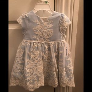 Pippa & Julie baby blue lace dress 18Month